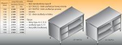 Stół roboczy z blokiem szuflad i szafką otwartą lo 136/s2 - 1500x600