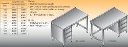 Stół roboczy z blokiem szuflad lo 134/s3 - 1600x600