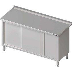 Stół przyścienny z szafką (P),drzwi suwane 1600x700x850 mm
