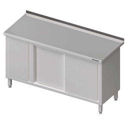 Stół przyścienny z szafką (L),drzwi suwane 1500x700x850 mm