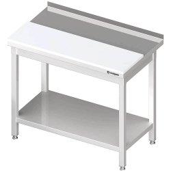 stół przyścienny z płytą polietylenową,i półką1700x700x850 mm spawany