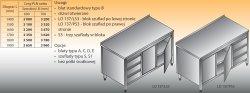 Stół roboczy z blokiem szuflad i szafką lo 137/s3 - 1800x700