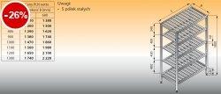 Regał z półkami stałymi ociekowymi lo 603 - 1100x400