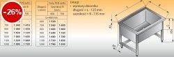 Basen wysoki przyścienny lo 408 - 1100x600 g300