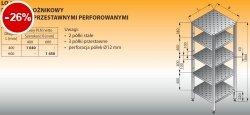 Regał narożnikowy z półkami przestawnymi perforowanymi lo 610 - 600x600