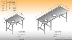 Stół sortowniczy kątowy lewy lo 312 - 2200x1200 Lozamet