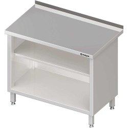 Stół przyścienny, zabudowany z 2-ma półkami 1000x700x850 mm