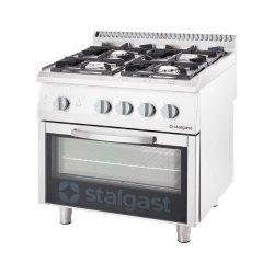 kuchnia gazowa 4 palnikowa wym. 800x700x850 z piekarnikiem gazowym (800) 20,5+5 kW - G30/31 (propan-butan)