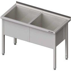 Stół z basenem 2-komorowym spawany 1600x700x850 mm h=400 mm