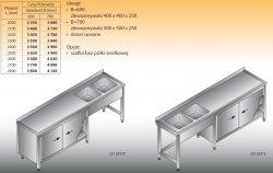 Stół zlewozmywakowy 2-zbiornikowy lo 247 - 2300x700