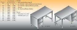 Stół roboczy z blokiem szuflad lo 134/s2 - 1700x700