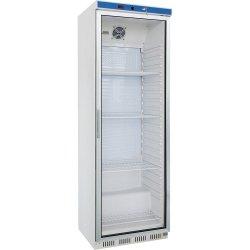 szafa chłodnicza ekspozycyjna 350 l., wnętrze z ABS, biała lakierowana