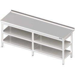 Stół przyścienny z 2-ma półkami 2300x700x850 mm spawany