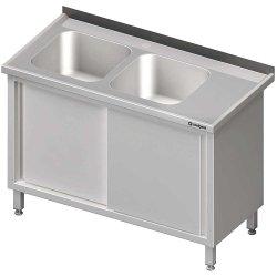 Stół ze zlewem 2-kom.(L),drzwi suwane 1900x700x850 mm