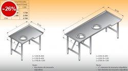 Stół sortowniczy kątowy lewy lo 312 - 1200x800 Lozamet