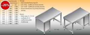 Stół roboczy z szafką lo 116/l; lo 116/p 1000/600