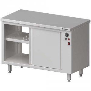 Stół przelotowy, z szafką grzewczą,drzwi suwane 1500x700x850 mm