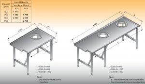 Stół sortowniczy prosty lewy lo 304 - 2200x1200 Lozamet