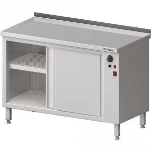 Stół przyścienny, z szafką grzewczą,drzwi suwane 1500x600x850 mm