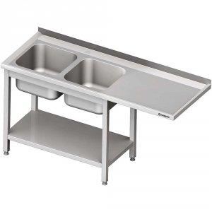 Stół ze zlewem 2-kom.(L) i miejscem na lodówkę lub zmywarkę 2100x700x900 mm