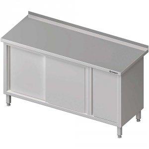 Stół przyścienny z szafką (P),drzwi suwane 1500x600x850 mm