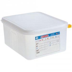 Pojemnik z polipropylenu z pokrywką szczelną, GN 1/2, H 150 mm