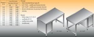 Stół roboczy z szafką lo 116/l; lo 116/p 1600/600