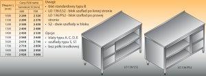 Stół roboczy z blokiem szuflad i szafką otwartą lo 136/s2 - 1700x600