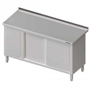 Stół przyścienny z szafką (L),drzwi suwane 1800x600x850 mm