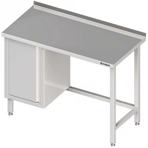 Stół przyścienny z szafką (L),bez półki 1800x700x850 mm