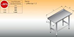 Stół prosty lo 324 - 1600x575 Lozamet