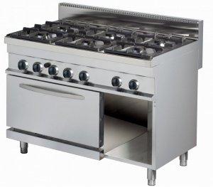 Kuchnia gazowa z piekarnikiem gazowym | 6-palnikowa | RQGR732 | 36 kW  | linia 700