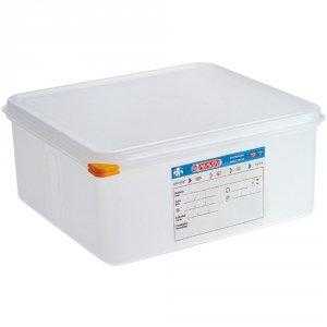 Pojemnik z polipropylenu z pokrywką szczelną, GN 2/3, H 150 mm