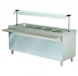 Stanowisko chłodnicze z ladą sałatkową z podstawą otwartą RS718FN | 1800x700x1245 | 5GN1/1