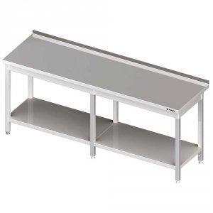 Stół przyścienny z półką 2600x700x850 mm spawany