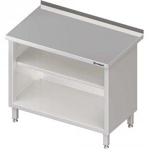 Stół przyścienny, zabudowany z 2-ma półkami 600x700x850 mm