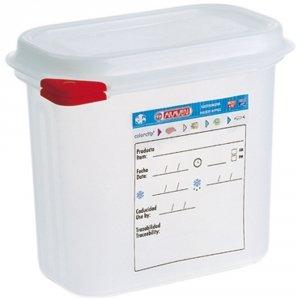 Pojemnik z polipropylenu z pokrywką szczelną, GN 1/9, H 150 mm