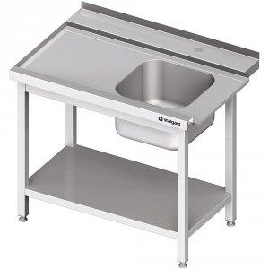 Stół załadowczy(L) 1-kom. z półką do zmywarki STALGAST 1200x750x880 mm spawany
