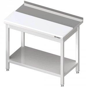 stół przyścienny z płytą polietylenową,i półką 1900x700x850 mm spawany