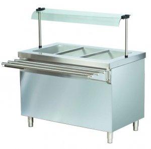 Stanowisko chłodnicze z ladą sałatkową z podstawą otwartą RS711FN | 1150x700x1245 | 3GN1/1