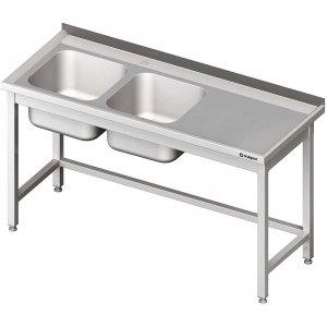 Stół ze zlewem 2-kom.(L),bez półki 1900x700x850 mm