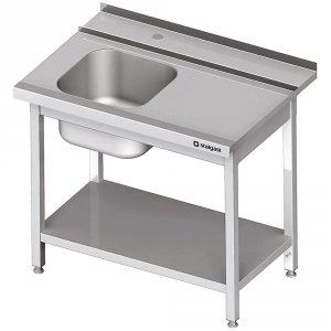 Stół załadowczy(P) 1-kom. z półką do zmywarki STALGAST 900x750x880 mm spawany