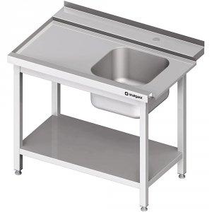 Stół załadowczy(L) 1-kom. z półką do zmywarki STALGAST 900x750x880 mm skręcany