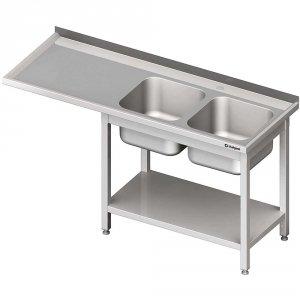 Stół ze zlewem 2-kom.(P) i miejscem na lodówkę lub zmywarkę 2100x700x900 mm
