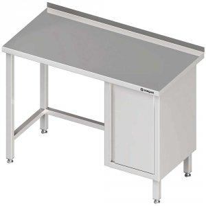 Stół przyścienny z szafką (P),bez półki 1300x700x850 mm