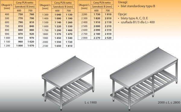 Stół roboczy lo 103 1500/700