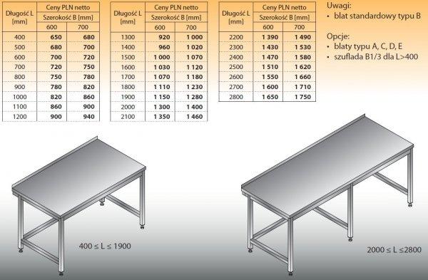 Stół roboczy lo 101 2500/700