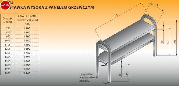 Nadstawka wysoka z panelem grzewczym lo 715 - 1195x350