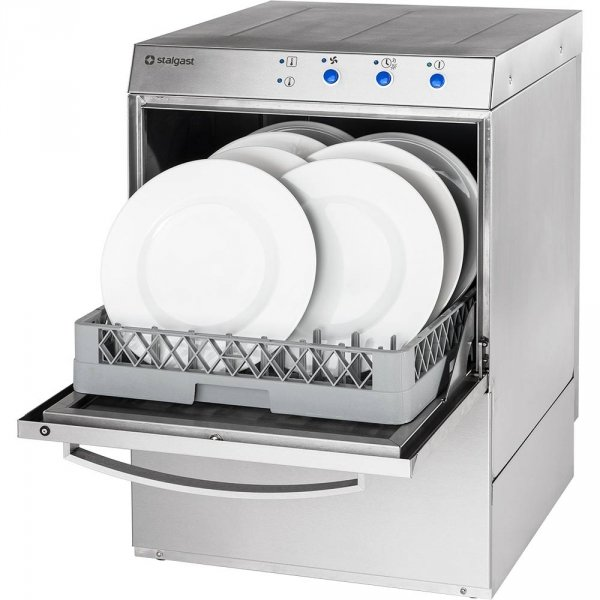 Zmywarko wyparzarka, uniwersalna, dozownik płynu myjącego, pompa wspomagająca płukanie, P 4.9/3.4 kW, U 230/400 V
