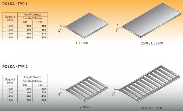 Półka - typ 2 1200/600